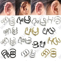 Online Shop Illusion Captive Bead Rings, Fake Cartilage Clip-On Ring ,Helix Earrings, Non Pierced Clip On Closure Ring Sold as pair|Aliexpress Mobile
