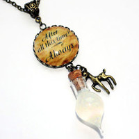 Snape's Tears Memories Bottle, After All This Time Always Necklace. Harry Potter