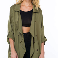 Drape Expectations Buttoned Jacket