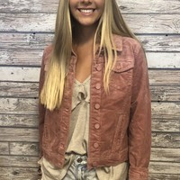 Fall Vibes Jacket- Blush