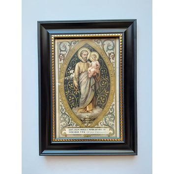 Joseph of the Sacred Heart Framed Postcard - New!