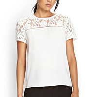 Floral Lace Woven Top