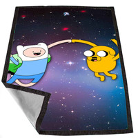 Adventure Time Jake and Finn 3 a2932836-473c-4636-a6b9-2c40590a7072 for Kids Blanket, Fleece Blanket Cute and Awesome Blanket for your bedding, Blanket fleece *02*