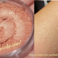 Golden Mineral Highlighter- All Natural, Mineral Golden Highlighter GLOWDACIOUS for Face and Body