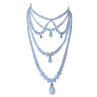 Christian Dior By John Galliano Victorian Style Opalescent Drapery Necklace