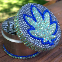 GRINDER -- Green + Blue Pot Leaf