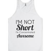 concentrated awesome-Unisex White Tank
