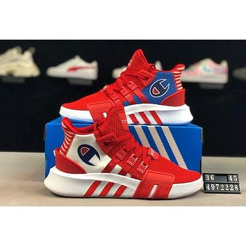 ADIDAS EQT x Champion joint model 2019 new mesh breathable casual sports shoes red-1