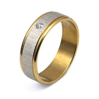AMAZING HIS LOVE BAND 18KT YELLOW GOLD  ENGAGEMENT AND WEDDING BAND