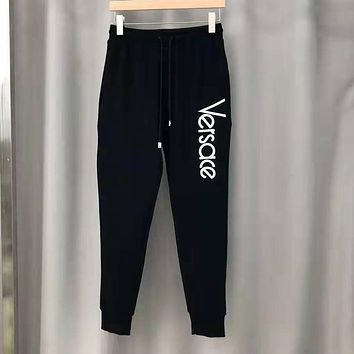 VERSACE Autumn Winter Fashion Embroidery Sport Pants Trousers Sweatpants