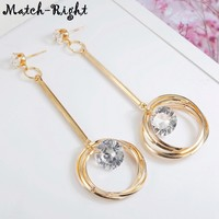 Geometric Gold Earrings for Women Long Dangle Drop Earring Pendant New Woman Jewelry Mujer Aretes Brincos De Mulheres LX021