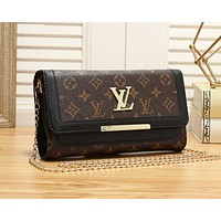 LV Louis Vuitton Newest Fashion Women Shopping Bag Leather Crossbody Shoulder Bag Satchel Black