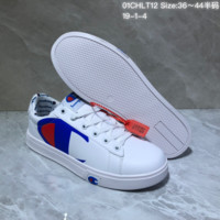 KUYOU C038 Champion x Casbia Awol Atlanta Low Leather Skate Shoes White Blue Red