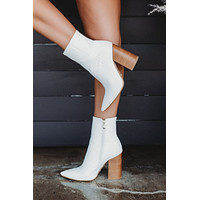 Tio Ankle Booties (White/Natural)