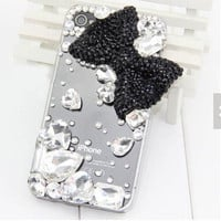 bow iphone 5 case gem iphone 5s case crystal iphone 4 case iphone 5c case rhinestone iphone case samsung galaxy s3 s4 s5 samsung note2 note3