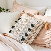 Harper Embroidered Throw Pillow | Urban Outfitters
