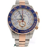 Rolex Yacht-Master Ii 44mm Rose Gold and Steel Watch 116681