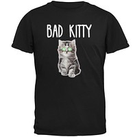 Halloween Bad Kitty Cat Ghost Mens T Shirt