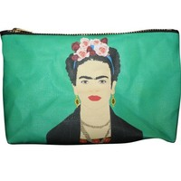 Frida Kahlo Pop Zipper Pouch and Makeup Bag – Illustrated and Handmade in the USA