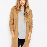 Brave Soul Long Lined Cardigan With Front Pockets