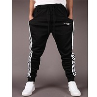 Mens Joggers Trousers 2017 Hot Selling High Quality Brand Men Pants Printed Letters Convergent Sweatpants Free Shipping clothing