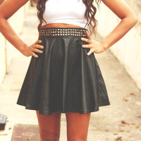 Bad Girl Leather Skirt | District Apparel