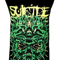 Suicide Silence Black Crown T Shirt Tank Top Vest Size M - Metal Rock Band Music