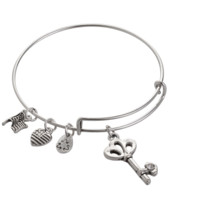 Alex and Ani style sky pendant charm bracelet,a perfect gift !
