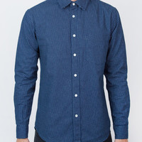 Indigo Drop Dot Long Sleeve Shirt