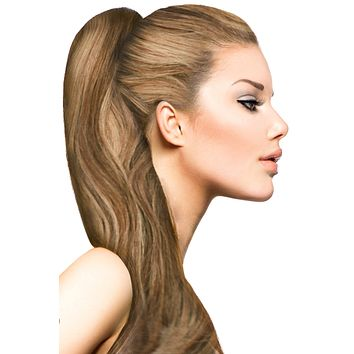 """16"""" Clip In Hair Extensions: No. P6-27 Chestnut Brown/ Blonde"""