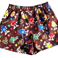 M&M's Candy Chocolate Boys Boxers Shorts, Boxers, Underwear, Boys Briefs