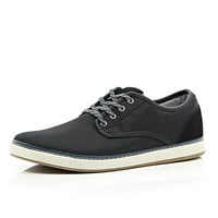 River Island MensBlack flecked lace chunky sole sneakers