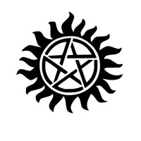 Anti-Possession Symbol Automotive Decal Bumper Sticker Supernatural catholic voodoo demons Any Corlor