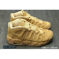 Nike Air More Uptempo trendy men and women trendy sneakers F-HAOXIE-ADXJ Khaki