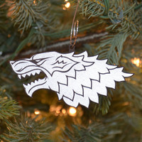 Dire Wolf Christmas Ornament Set of Six - Game of Thrones Inspired Ornaments -