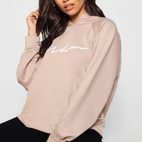 Oversized Woman Sweat Hoody | Boohoo