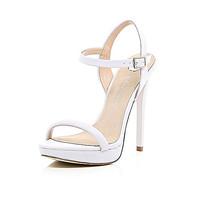 River Island Womens Light purple barely there sandals