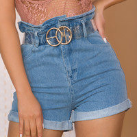 Summer Games Jean Shorts - Light Wash Denim