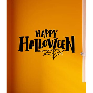 Happy Halloween Wall Decal Home Decor Vinyl Art Sticker Holiday October Trick or Treat Pumpkin Witch Ghost Scary Kids Boy Girl Family