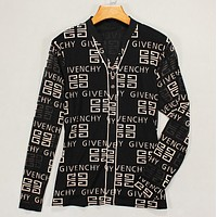 Givenchy Fashion New Letter Pattern Leisure Long Sleeve Top Shirt Women Black