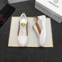 Best Quality VERSACE 2020 Popular Men Casual Breathable Canvas Sneakers Running Shoes  TREDING mens Valentino low top shoe