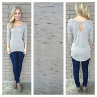 Mocha Speckled Keyhole Back Top