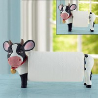 Cow Toilet Paper Holder