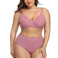 Rose Plus size Bra And Panties Set