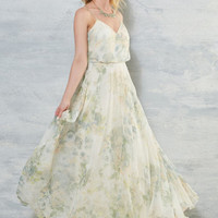Enchanting Romantic Dress in Ivory Floral