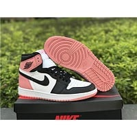 Air Jordan 1 Retro High Art Basel Rust Pink AJ1 Sneakers