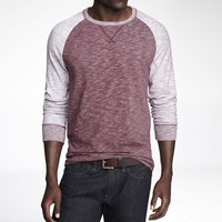 COLOR BLOCK SLUB KNIT BASEBALL TEE