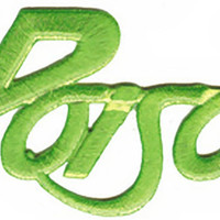 Poison Iron-On Patch Green Letters Logo