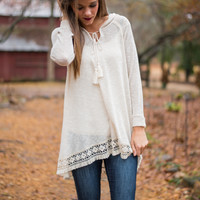 Want You To Know Sweater, Ivory