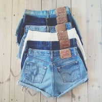 High waisted and low waisted distressed shorts in Multi colors!